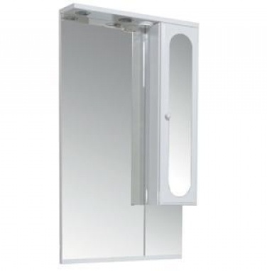 Марсель 100296 БелоеМебель для ванной<br>Зеркало Aquanet Марсель 100296 со шкафом.<br>