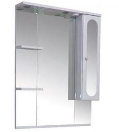 Марсель 100306 БелоеМебель для ванной<br>Зеркало Aquanet Марсель 100306 со шкафчиком и полочками.<br>