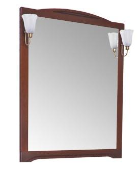 Луис 173209 Тёмный-орехМебель для ванной<br>Зеркало Aquanet Луис 173209  Цвет тёмный орех. Артикул 173209.<br>
