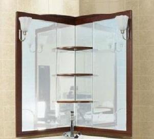 Луис 171917 БелыйМебель для ванной<br>Зеркало Aquanet Луис 171916 угловое, без светильников. Цвет белый. Артикул 171916.<br>
