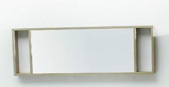Нота 158123 Светлый дубМебель для ванной<br>Зеркало Aquanet Нота 158123 с двумя встроенными светильниками.<br>