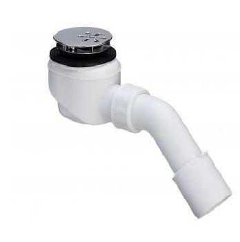 Domoplex 364755 БелыйКомплектующие<br>Сифон Viega Domoplex 364755 для душевых поддонов с диаметром сливного отверстия 52 мм. С отводом 45градусов. Поверхность накладки: хром.<br>