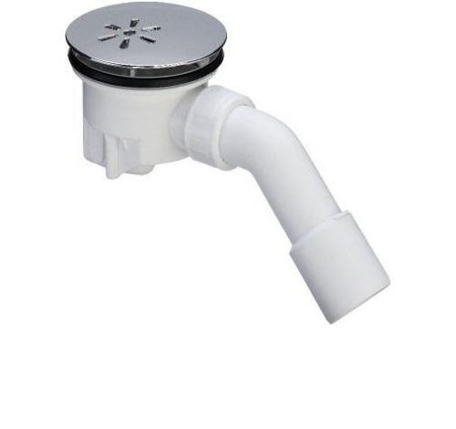 Tempoplex 364786  БелыйКомплектующие<br>Сифон Viega Tempoplex 364786 для душевых поддонов с диаметром сливного отверстия 90 мм. С отводом 45градусов. Мoнтажнaя выcoтa 80 мм. Поверхность накладки: хром.<br>