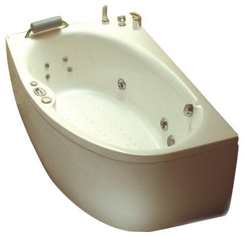 """Korfu Система 4: Maxi Гидро-аэромассажВанны<br>Victory Spa Korfu NVS.510.910.04.1/NVS.511.910.04.1 ассиметричная угловая ванна,цвет: белый. Стандартная комплектация: электронная система управления; ЖК-дисплей; программа полуавтоматической дезинфекции; хромотерапия (подводная цветовая подсветка); таймер с установкой желаемого времени принятия процедур (до 30мин.); проточный водонагреватель, поддерживающий температуру воды, с защитой от """"сухого пуска""""; пульт дистанционного управления; радиo FM / MP3 плеер; часы; датчик температуры воды; датчик уровня воды. Гидромассаж: ротативные форсунки для спины; ротативные форсунки для массаж ступней ног; боковые форсунки с возможностью направления струи; возможность полного закрытия боковых форсунок; независимая регулировка подачи воздуха в гидромассажные форсунки; турбомассаж (принудительная подача воздуха в форсунки от воздушного компрессора); импульсный режим гидромассажа (H-MODE); датчик защиты от запуска без воды; дренаж гидромассажной системы после принятия ванны; отдельный регулятор воздуха гидромассажных форсунок спины. Аэромассаж: плавная регулировка интенсивности воздушного потока; компрессор со встроенным нагревателем воздуха; импульсный режим аэромассажа (В-MODE); дренаж аэромассажной системы после принятия ванны; автоматическая продувка и просушка аэромассажной системы после принятия ванны. Дополнительно можно приобрести ароматерапию; озонатор; фронтальную панель; панель для облицовки плиткой; подголовник; слив-перелив с наполнением.<br>"""