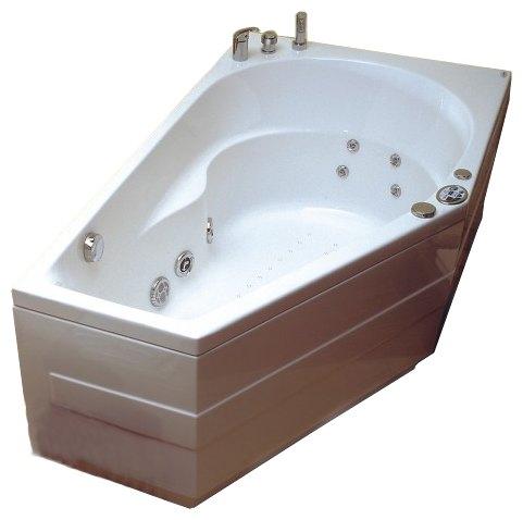 """Elba Система 4: Maxi Гидро-аэромассажВанны<br>Victory Spa Elba NVS.360.910.04.1/NVS.361.910.04.1 ассиметричная угловая ванна,цвет: белый. Стандартная комплектация: электронная система управления; ЖК-дисплей; программа полуавтоматической дезинфекции; хромотерапия (подводная цветовая подсветка); таймер с установкой желаемого времени принятия процедур (до 30мин.); проточный водонагреватель, поддерживающий температуру воды, с защитой от """"сухого пуска""""; пульт дистанционного управления; радиo FM / MP3 плеер; часы; датчик температуры воды; датчик уровня воды. Гидромассаж: ротативные форсунки для спины; ротативные форсунки для массаж ступней ног; боковые форсунки с возможностью направления струи; возможность полного закрытия боковых форсунок; независимая регулировка подачи воздуха в гидромассажные форсунки; турбомассаж (принудительная подача воздуха в форсунки от воздушного компрессора); импульсный режим гидромассажа (H-MODE); датчик защиты от запуска без воды; дренаж гидромассажной системы после принятия ванны; отдельный регулятор воздуха гидромассажных форсунок спины. Аэромассаж: плавная регулировка интенсивности воздушного потока; компрессор со встроенным нагревателем воздуха; импульсный режим аэромассажа (В-MODE); дренаж аэромассажной системы после принятия ванны; автоматическая продувка и просушка аэромассажной системы после принятия ванны. Дополнительно можно приобрести ароматерапию; озонатор; фронтальную панель; панель для облицовки плиткой; подголовник; слив-перелив с наполнением.<br>"""