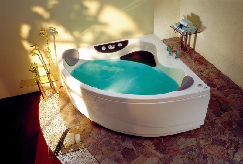 Акриловая ванна Victory Spa Curacao 145x145 Система 3: Гидро-аэромассаж