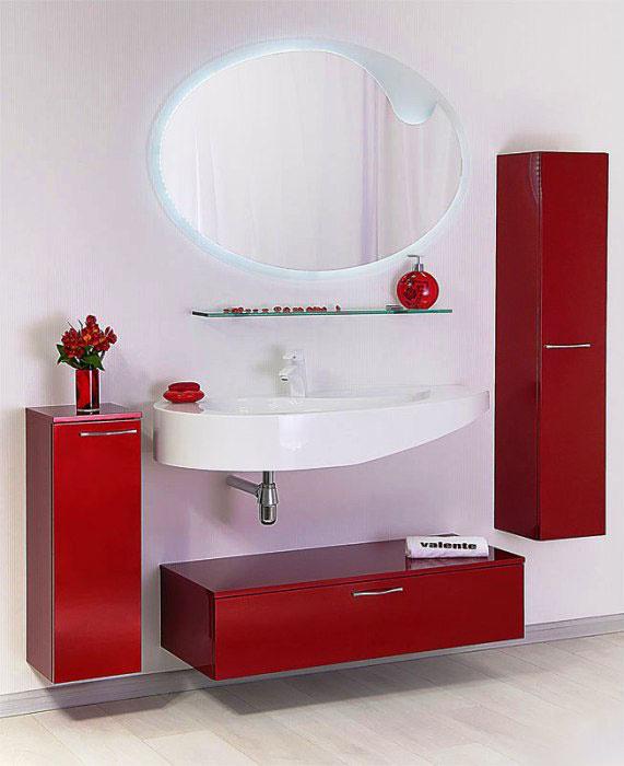 Lacrima Lac900.31 подвесная цвет красныйМебель для ванной<br>Valente Lac900.31 тумба с выдвижным ящиком 900*400*240 мм.<br>