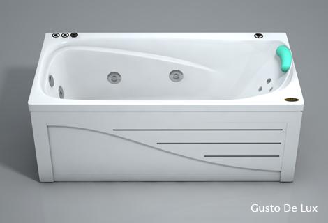 Густо StandartВанны<br>Прямоугольная акриловая ванна Polla Густо. В комплекте: слив/перелив и каркас. Фронтальная панель приобретается отдельно.<br>
