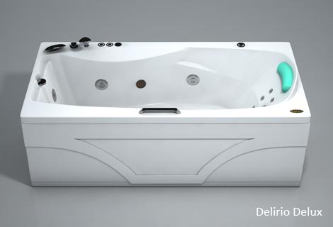 Делирио StandartВанны<br>Прямоугольная акриловая ванна Polla Делирио. В комплекте: слив/перелив и каркас. Фронтальная панель приобретается отдельно.<br>