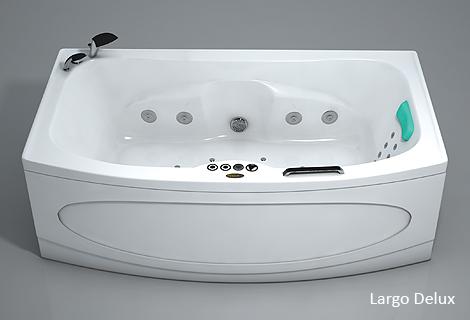 Ларго StandartВанны<br>Прямоугольная акриловая ванна Polla Ларго. В комплекте: слив/перелив и каркас. Фронтальная панель приобретается отдельно.<br>