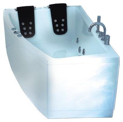 """Gemini 180 Система 2: ГидромассажВанны<br>Victory Spa Gemini 180 NVS.630.910.02.1/NVS.631.910.02.1 акриловая ванна белого цвета. Стандартная комплектация: электронная система управления; ЖК-дисплей; программа полуавтоматической дезинфекции; подводная светодиодная подсветка; таймер с установкой желаемого времени принятия процедур; часы; датчик температуры воды; датчик уровня воды; подголовники. Гидромассаж: ротативные форсунки для спины; ротативные форсунки для массажа ступней ног; боковые форсунки с возможностью изменения направления струи; возможность полного закрытия боковых форсунок; независимая регулировка подачи воздуха в гидромассажные форсунки; датчик защиты от запуска без воды; дренаж гидромассажной системы после принятия ванны. Дополнительно можно приобрести хромотерапию (подводная цветовая подсветка); проточный водонагреватель, поддерживающий температуру воды, с защитой от """"сухого пуска""""; отдельный регулятор воздуха гидромассажных форсунок спины; импульсный режим гидромассажа (H-MODE); радиo FM / MP3 плеер; пульт дистанционного управления; ароматерапию; озонатор; панели; слив-перелив с наполнением.<br>"""