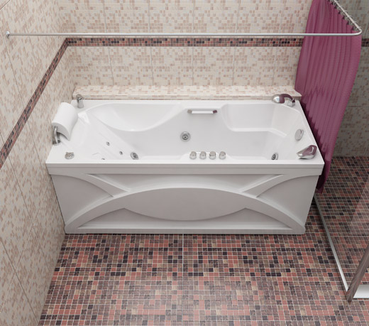 Диана БелаяВанны<br>Глубина ванны: 480 мм. Анатомическая форма спины и выступы по бокам поддерживают Ваше тело во время принятия ванны в естественном и удобном положении. В комплект поставки входят: чаша ванны, слив-перелив.<br>