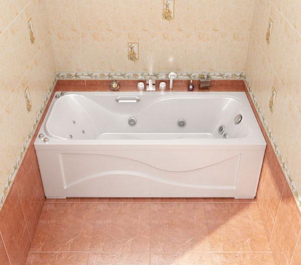 Джулия БелаяВанны<br>Классические линии дополняют интерьер стандартной ванный комнаты уютом, зрительно увеличивают пространство. Выступы борта ванны поддерживают Ваши руки в естественном положении. В комплект поставки входят: чаша ванны, слив-перелив.<br>