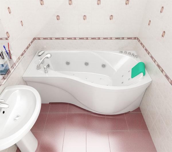 Мишель  Белая LВанны<br>Акриловая ванна МИШЕЛЬ левая. Глубина ванны: 380 мм. Удачный внешний размер ванны замечательно подходит для стандартной ванной комнаты. В комплект поставки входят: чаша ванны, слив-перелив, каркас.<br>