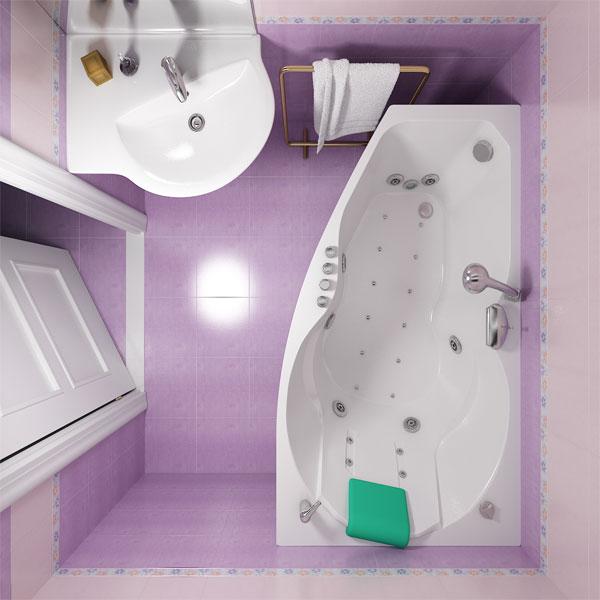 Фото - Акриловая ванна Triton Бриз Белая R акриловая ванна alpen naos 180x100 r правая комплект