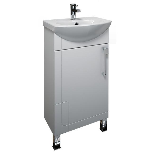 Диана 45 Белая LМебель для ванной<br>Тумба Triton Диана 45 левая. Белого цвета. В комплект поставки входит тумба под раковину.<br>