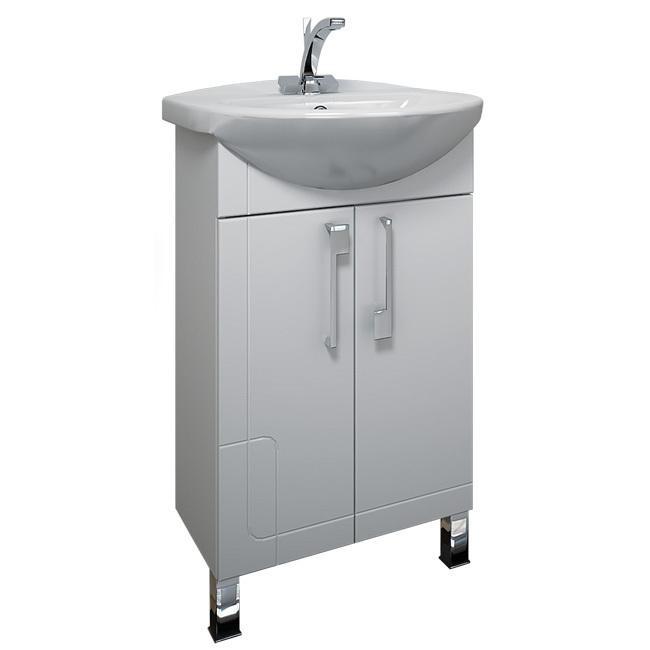 Диана 55 БелаяМебель для ванной<br>Тумба распашная Triton Диана 55. Белого цвета. В комплект поставки входит тумба под раковину.<br>