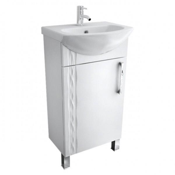 Кристи 45 Белая RМебель для ванной<br>Тумба Triton Кристи 45 правая. Белого цвета. Раковина в комплект не входит.<br>