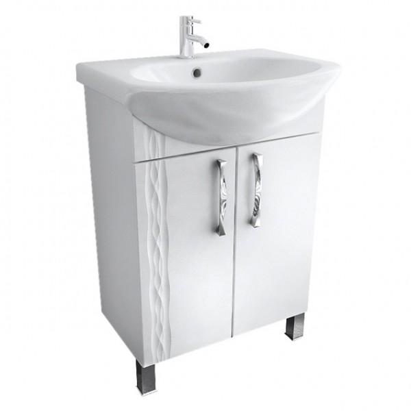 Кристи 55 БелаяМебель для ванной<br>Тумба распашная Triton Кристи 55. Белого цвета. В комплект поставки входит тумба под раковину.<br>