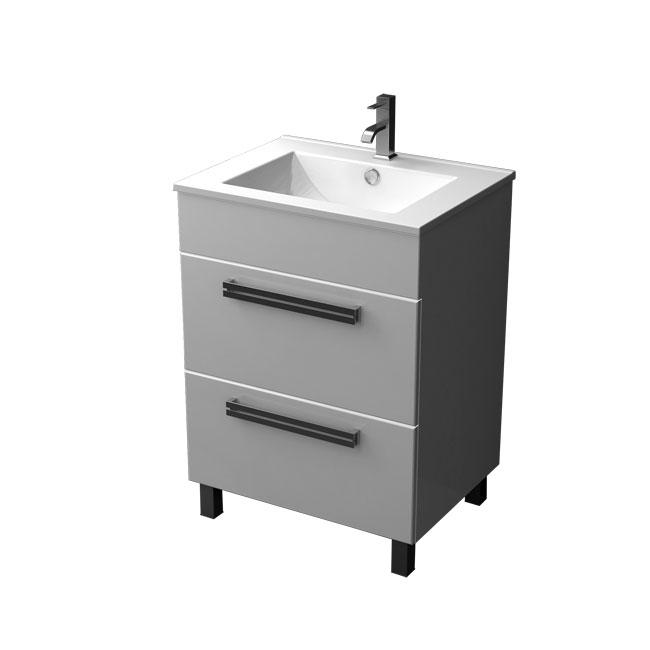Ника 75  НапольнаяМебель для ванной<br>Тумба напольная с двумя выдвижными ящиками Triton Ника 75. Белого цвета. В комплект поставки входит тумба под раковину.<br>