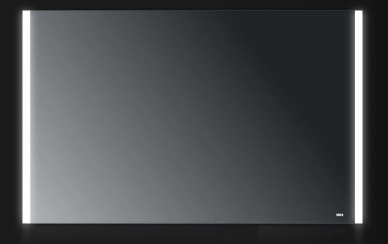Pulse 120x75 120х75Мебель для ванной<br>Зеркало прямоугольное настенное со встроенной подсветкой белого цвета, сенсорным выключателем и обогревом. Цвет ламп имеет холодный оттенок. Обогрев позволяет избежать запотевание зеркала. В зеркало встроен датчик температуры, который отключает обогрев при достижении необходимой температуры. Выключатель расположен на раме зеркала снизу под фирменным логотипом.<br>