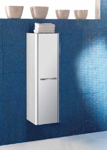 Day DY CB05 SX Белая 100Мебель для ванной<br>Шкаф-колонна подвесной белого цвета Day CB05 SX 100 с одной распашной дверью, створка открывается в левую сторону. Возможно крепление на стене или установка на ножки XAPD8.<br>