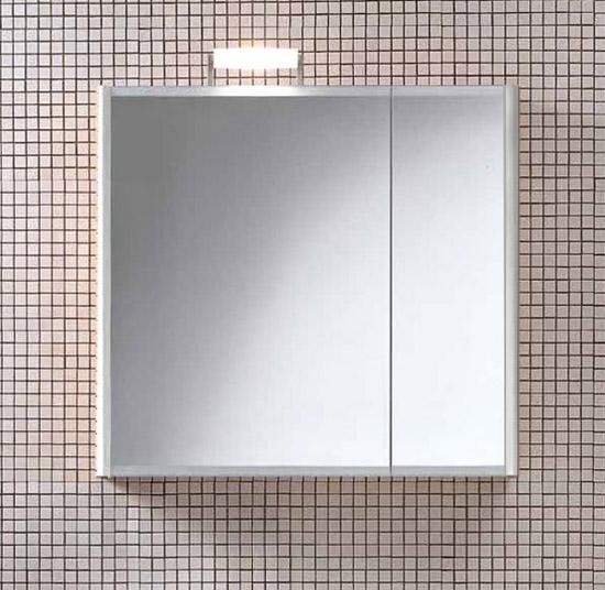 Day SN07 SX БелаяМебель для ванной<br>Подвесной шкаф белого цвета с зеркальными створками Berloni Bagno DAY SN07 SX 100 большая створка с левой стороны. Можно дополнить светильником XP14.<br>