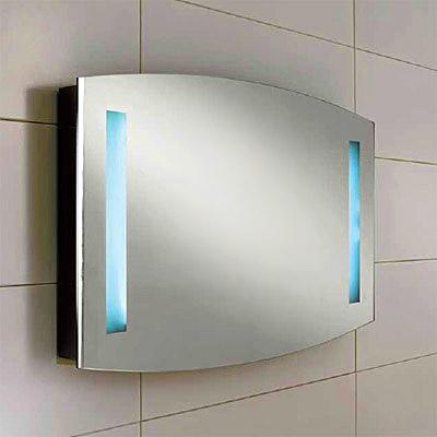 Day SQ415 Зеркало с подсветкойМебель для ванной<br>Зеркало Berloni Bagno Day SQ415 с вертикальной подсветкой по бокам. Можно дополнить светильником XP14.<br>