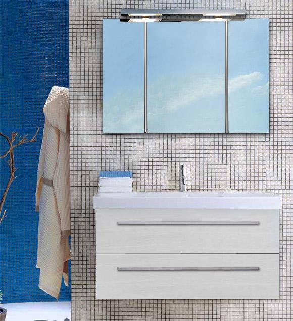 Squared SQ BS11 100 Выбеленный дубМебель для ванной<br>Тумба подвесная для ванной Berloni Bagno Squared SQ BS11 401 выбеленный дуб. Так же может комплектоваться керамической раковиной. Выдвижные ящики, механизм с доводчиком и плавным бесшумным закрытием.<br>