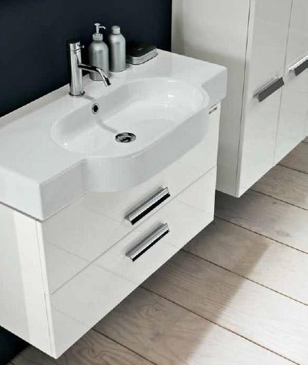Wall WL BS12T 100 БелаяМебель для ванной<br>Тумба подвесная для ванной Berloni Bagno Wall WL BS12T белого цвета. Так же может комплектоваться керамической раковиной. Выдвижные ящики, механизм с доводчиком и плавным бесшумным закрытием.<br>