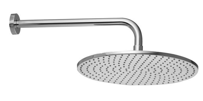 F2224CR ХромВерхние души<br>Верхний душ из латуни Fima Carlo Frattini F2224CR  диаметром 300 мм, с защитой от извести анти-кальк. Держатели настенного монтажа 350 мм - 1/2. Цвет: хром.<br>