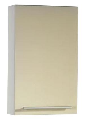 Avon B 45.07 Ванильный глянец/Светлый орехМебель для ванной<br>Gorenje Avon B 45.07 подвесной шкаф. Шкаф с распашной дверцей и двумя полочками внутри, цвет фасада ванильный глянец. корпуса светлый орех.<br>