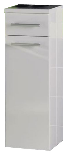 Avon BKG 30.16 Черный глянец/Белый глянецМебель для ванной<br>Gorenje Avon BKG 30.16 нижний подвесной шкаф. Шкаф со столешницей, одной распашной дверцей и выдвижным ящиком, цвет фасада черный глянец, корпуса белый глянец.<br>