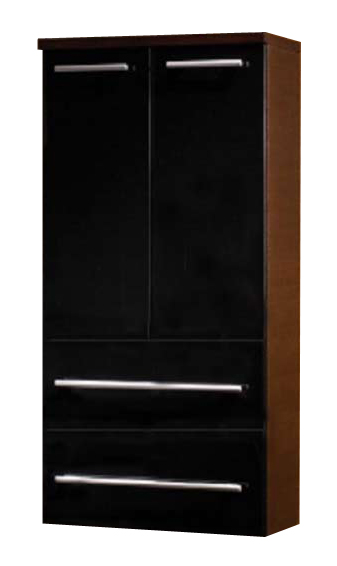 Avon BKG 60.18  Ванильный глянец/Белый глянецМебель для ванной<br>Gorenje Avon BKG 60.18 высокий подвесной шкаф. Шкаф c распашными дверцами и двумя выдвижными ящиками, цвет фасада ванильный глянец, корпуса белый глянец.<br>