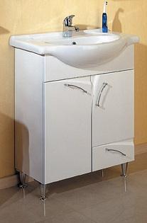 Алина 65 БелаяМебель для ванной<br>Тумба Aqwella Алина 65  в комплекте с раковиной. Две дверцы, ящик. Дополнительно Вы можете приобрести зеркало с подсветкой, шкафчиком и полочкой, арт. AL.02.06, и навесные шкафчики  Al.04.03 и Al.04.06.<br>