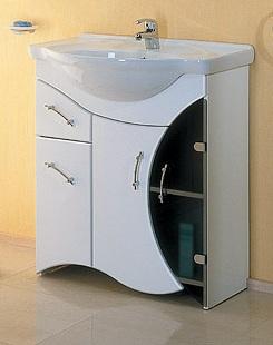 Бэлла 75 БелаяМебель для ванной<br>Тумба Aqwella Бэлла 75 в комплекте с раковиной. Дополнительно Вы можете приобрести зеркало со светильником и шкафчиком, арт. BeL.02.07.<br>