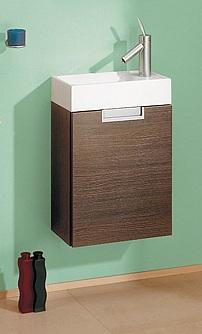 Леон 40 ВенгеМебель для ванной<br>Тумба под раковину Aqwella Леон 40. Одна дверца, цвет венге.<br>