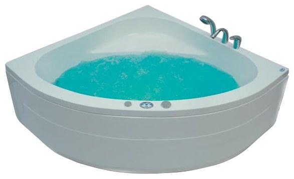 Malta 135x135 Система 2: ГидромассажВанны<br>Victory Spa Malta 135 акриловая ванна белого цвета. Стандартная комплектация: электронная система управления; сегментный дисплей (температура воды и время); подводная светодиодная подсветка; таймер с установкой желаемого времени принятия процедур; датчик уровня воды. Гидромассаж: ротативные форсунки для спины; ротативные форсунки для массажа ступней ног; боковые форсунки с возможностью направления струи; независимая регулировка подачи воздуха в гидромассажные форсунки; датчик защиты от запуска без воды; дренаж гидромассажной системы после принятия ванны. Дополнительно можно приобрести фронтальную панель, панель для облицовки плиткой, алюминиевую раму, проточный водонагреватель, подголовник, смеситель.<br>