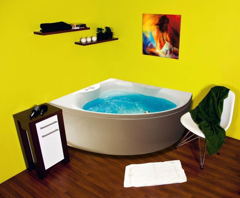 Salsa Без системы управленияВанны<br>Victory Spa Salsa угловая акриловая ванна белого цвета. Ванна без системы управления. Дополнительно можно приобрести панели, алюминиевую раму, подводную подсветку, отделку форсунок хром.<br>