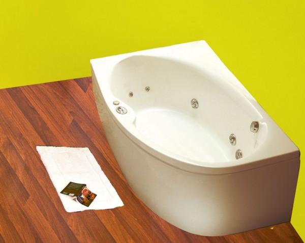 Jazz Система 2: ГидромассажВанны<br>Victory Spa Jazz ассиметричная акриловая ванна белого цвета. Стандартная комплектация: электронная система управления. Гидромассаж: ротативные форсунки для спины 2 шт.; ротативные форсунки для ступней ног 2 шт.; боковые форсунки с возможностью направления струи 4 шт.; независимая регулировка подачи воздуха в гидромассажные форсунки; датчик уровня воды; датчик защиты от запуска без воды; дренаж гидромассажной системы после принятия ванны. Дополнительно можно приобрести панели, алюминиевую раму, подводную подсветку, отделку форсунок хром.<br>