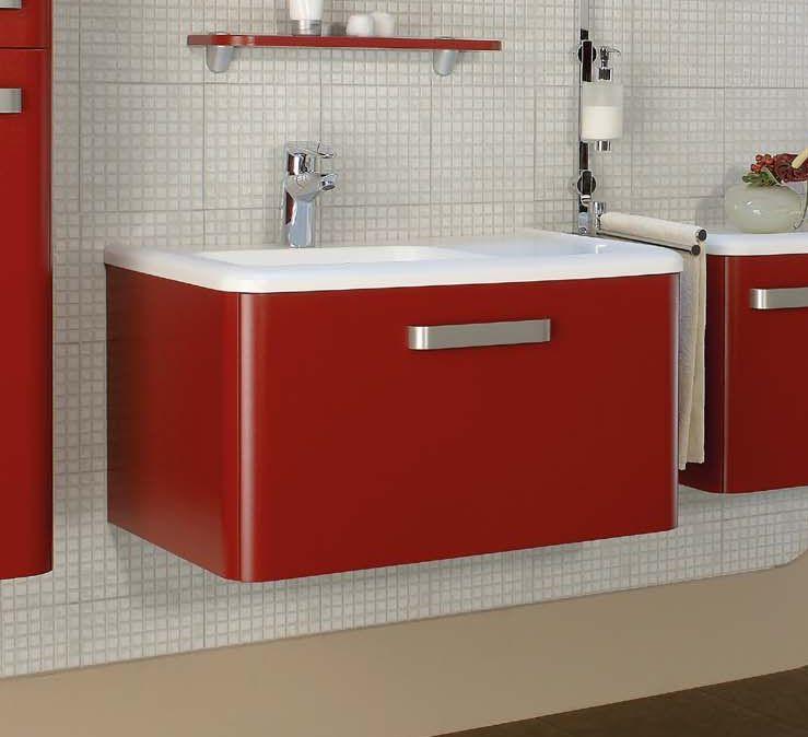 Jazz F 75.03 Красная матоваяМебель для ванной<br>Gorenje Jazz F 75.03 тумба под раковину. Стоимость указана за тумбу без раковины. Тумба подвесная с одним выдвижным ящиком, цвет: красный матовый. Раковина, зеркало и дополнительные шкафы приобретаются отдельно.<br>