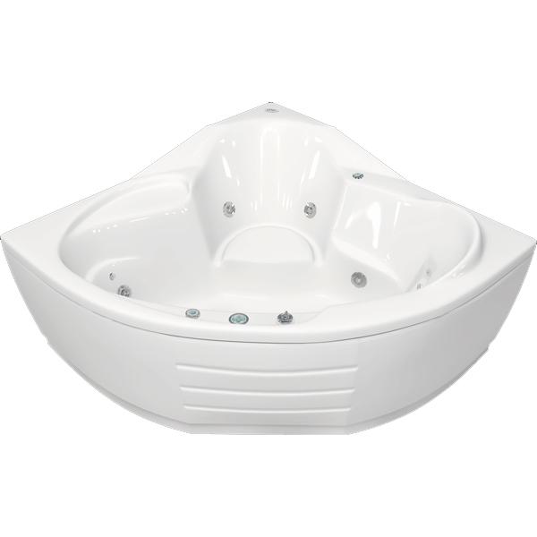 Оскар 143x143 с гидромассажемВанны<br>Акрилова ванна Bellrado Оскар 142.5x142.5x71.5 см в форме четверти круга, армированна.<br>Ванна изготовлена из литьевого акрила, литой лист толщиной 5 мм, и усилена стекловолокном с полифирными смолами. Толщина стенок – 6-7 мм. Усиливащие дно и места креплени корпуса лементы, толщина – 22-24 мм. Лицевой слой – акрил ПММА, устойчив к царапинам, УФ лучам, коррозийному и химическому воздействи, долго сохранет блеск.<br>Цвет чаши ванны: чистый холодный белый. <br>Ванна Оскар - отличный выбор дл средних и больших ванных комнат.В данну комплектаци входит 6 гидромассажных джет. Расположение форсунок выверено с анатомической точки зрени. Джеты регулирутс по направлени и силе массажной струи, а также по количеству воздуха (чем больше воздуха в струе, тем она шире и мощнее). Таким образом, гидромассаж можно настроить индивидуально. Благодар креплени двигател к подставке ванны с помощь амортизаторов, снижащих шум и вибраци, гидромассаж работает практически беззвучно.<br>В комплекте поставки:<br>акрилова чаша ванны<br>стальной каркас – надежна конструкци, профиль 25х25, толщина 1,5 см, порошковое напыление, не поддаетс коррозии<br>слив-перелив Vega полуавтомат6 гидромассажных джет Sirem (Франци) с мощность 900 Вт.<br>6 микроджет дл спинного массажа (система Турбопул)<br>Уход: с использованием безабразивных мгких средств. <br>Данна ванна реставрируема (из ремонтнопригодного материала).<br>