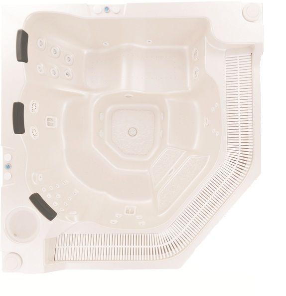 Orchid Spa Версия для домаБассейны<br>Victory Spa Orchid Spa бассейн. Версия для дома включает в себя: электронная система контроля; гидромассаж: 2 двигателя по 0,75 кВт; регулятор потока воздуха для гидромассажной системы; аэромассаж: 2 компрессора по 0,70 кВт; пульсирующий аэромассаж; изменение интенсивности аэромассажа; подводная подсветка, LED лампа (2шт); фильтрационная система: двигатель с пре-фильтром, 0,74кВт, песочный фильтр с 6-тью позиционным переключателем F710; переливной желоб с решёткой; переливной бак (1150л); система подогрева воды - электрический нагреватель воды 9кВт, теплообменник опция 43кВт (37.500Kcal) или 79кВт (68.000Kcal); установка температуры воды; установка времени гидромассажа; автоматическое поддерживание уровня воды; ручная дозировка химических реагентов; программирование еженедельной фильтрации (5 программ); установка отдельных программ фильтрации индивидуально на каждый день недели; кожух для бассейна предотвращает остывание воды в бассейне; поручни из нержавеющей стали; все приборы располагаются на стандартном поддоне 100х150см; потребление электроэнергии: 12,45 кВт - с проточным нагревателем воды, 3,45 кВт – с теплообменником. Дополнительно можно приобрести ультрафиолетовую лампу, кожух, хромотерапию.<br>