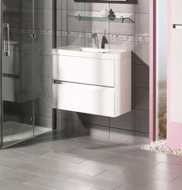 Lorencio F 60.84  Белая глянцеваяМебель для ванной<br>Gorenje Lorencio F 60.84 тумба под раковину. Стоимость указана за тумбу без раковины. Тумба подвесная с двумя выдвижными ящиками, цвет: белый глянцевый. Раковина, зеркало и дополнительные шкафы приобретаются отдельно.<br>