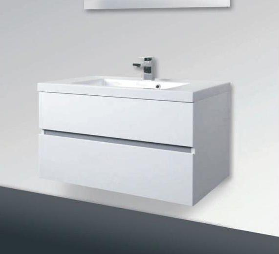 Lorencio F 80.84 Белая глянцеваяМебель для ванной<br>Gorenje Lorencio F 80.84 тумба под раковину. Стоимость указана за тумбу без раковины. Тумба подвесная с двумя выдвижными ящиками, цвет: белый глянцевый. Раковина, зеркало и дополнительные шкафы приобретаются отдельно.<br>