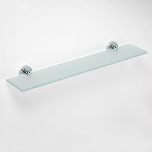 Omega 104102042 ХромАксессуары для ванной<br>Полочка для ванной Bemeta Omega 104102042 стеклянная 600 мм. Цвет хром.<br>