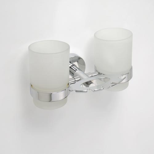 Omega 104110042 ГлянецАксессуары для ванной<br>Держатель для зубных щеток Bemeta Omega 104110042 со стаканами. Цвет глянец.<br>