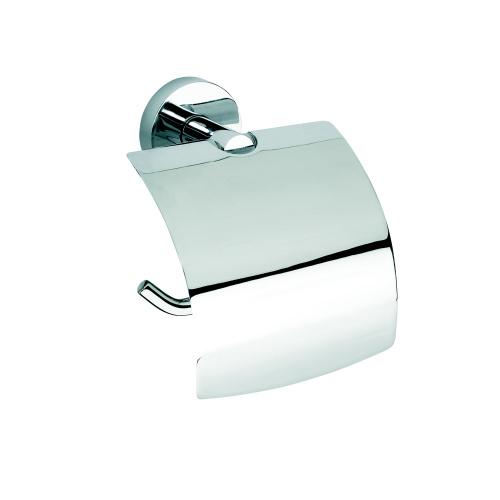 Omega 104112012 ГлянецАксессуары для ванной<br>Держатель для туалетной бумаги Bemeta Omega 104112012 с крышкой. Цвет глянец.<br>