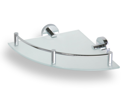 Omega 104202162 ГлянецАксессуары для ванной<br>Полочка для ванной Bemeta Omega 104202162 стеклянная угловая. Цвет глянец.<br>