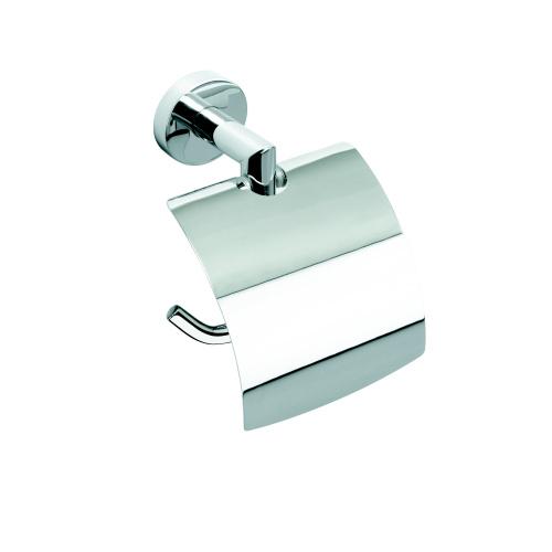 Omega 104212012 ГлянецАксессуары для ванной<br>Держатель для туалетной бумаги  Bemeta Omega 104212012 с крышкой. Цвет глянец.<br>